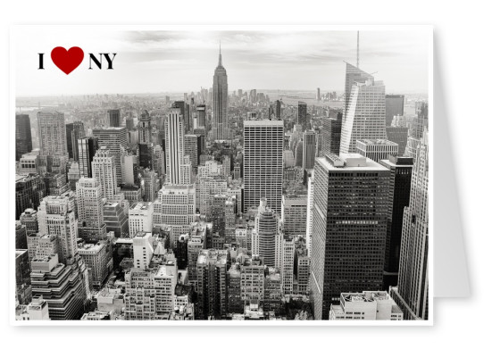 I love NY (blacknwhite) - New York City Postcard