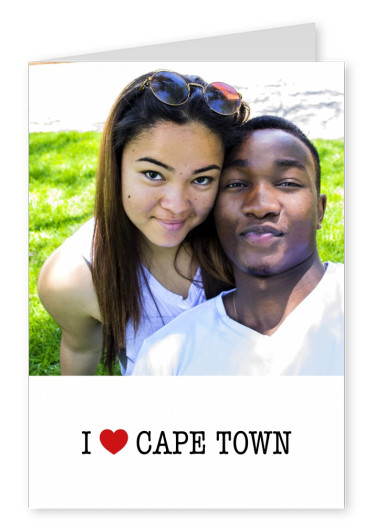 template with I love Cape Town sign