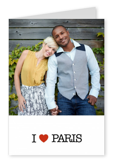 template with I love Paris sign