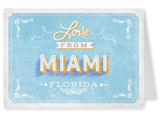 Love from Miami (Vintage Style) Florida