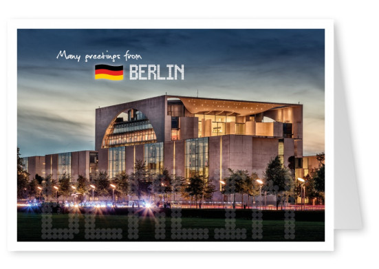 Many Greetings from Berlin Postcard
