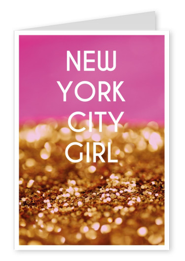 NEW YORK CITY GIRL Postcard Quote Card