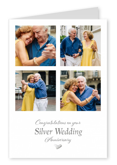 postcard On your Silver Wedding Anniversary