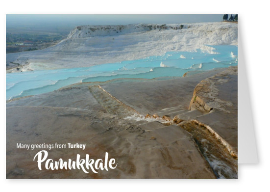 Postcard with photo of Pamukkale