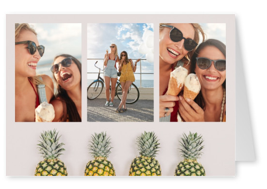 template with pineapples