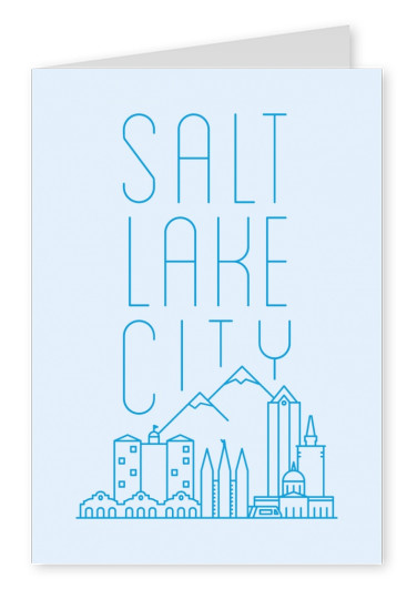 Salt Lake City Skyline Graphic
