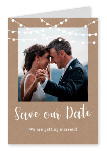 Save our date we are getting married