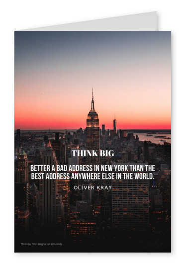 THINK BIG QUOTE FOR POSTCARDS