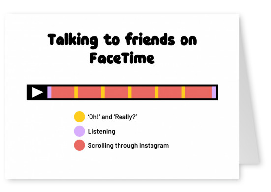 Talking to friends on FaceTime