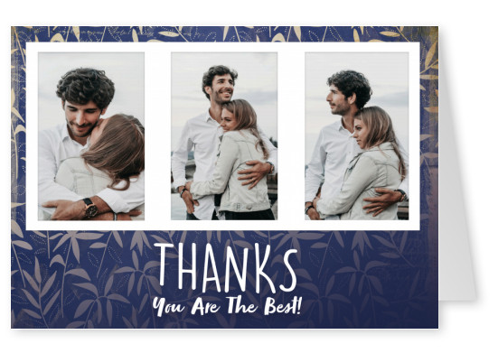 postcard Thanks you are the best