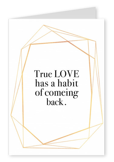 love quote postcard
