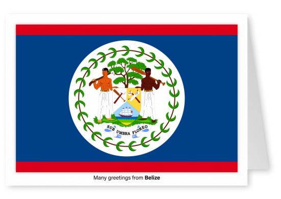 Postcard with flag of Belize