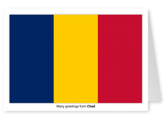 Postcard with flag of Chad