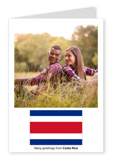 Postcard with flag of Costa Rica