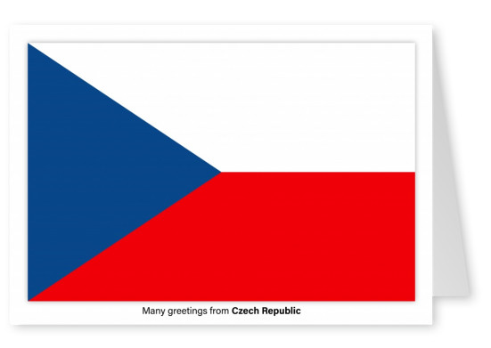 Postcard with flag of Czech Republic