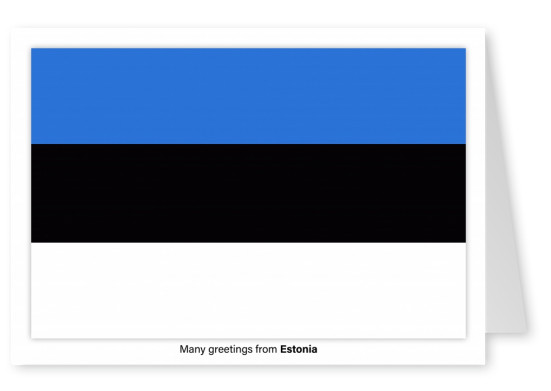 Postcard with flag of Estonia