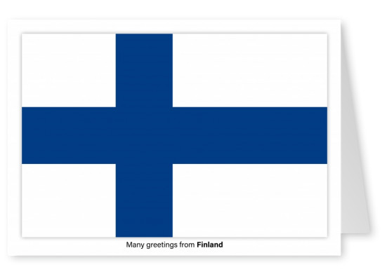 Postcard with flag of Finland