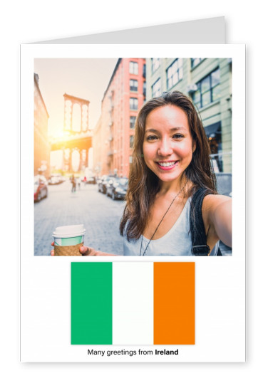 Postcard with flag of Ireland