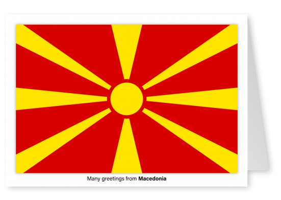 Postcard with flag of Macedonia