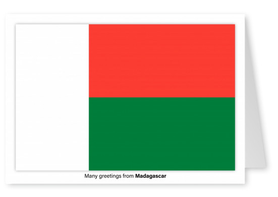 Postcard with flag of Madagascar