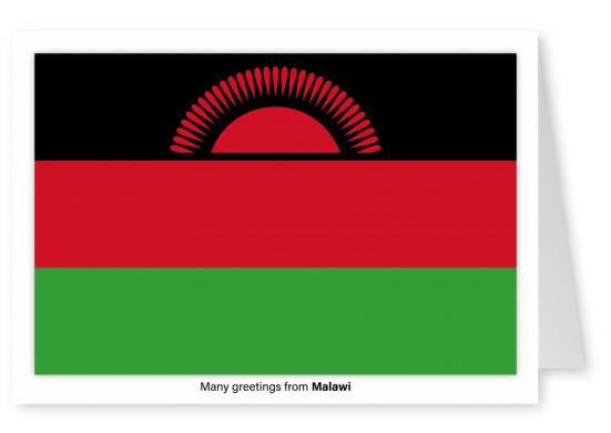 Postcard with flag of Malawi