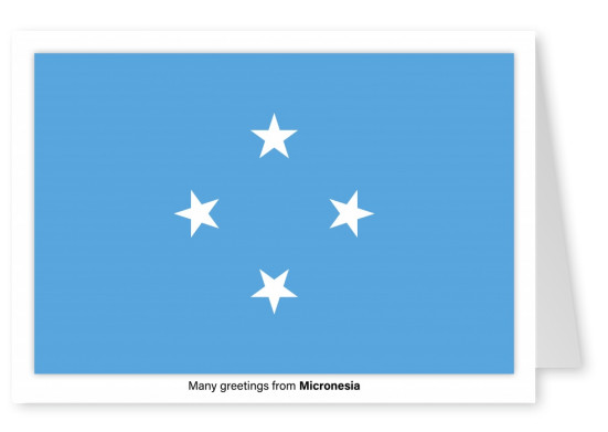 Postcard with flag of Micronesia