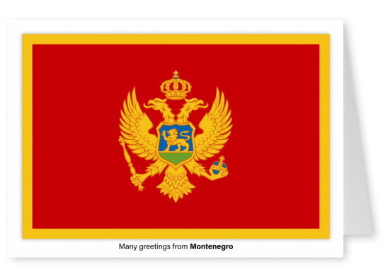 Postcard with flag of Montenegro