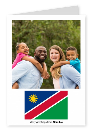 Postcard with flag of Namibia