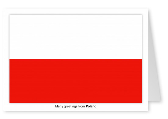 Postcard with flag of Poland