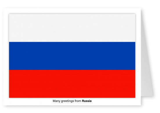 Postcard with flag of Russia