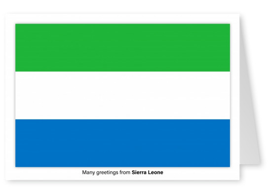 Postcard with flag of Sierra Leone