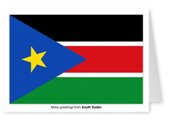 Postcard with flag of Solomon South Sudan