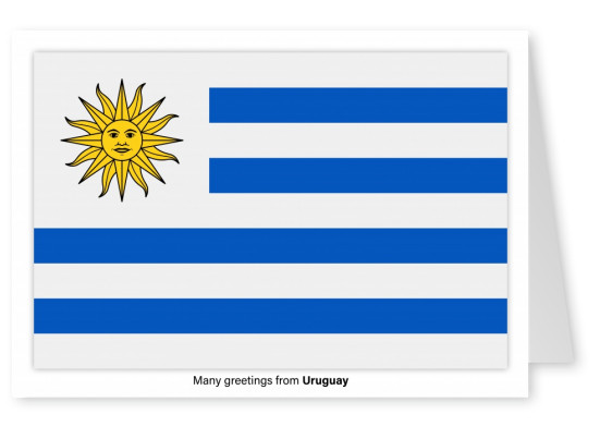 Postcard with flag of the Uruguay