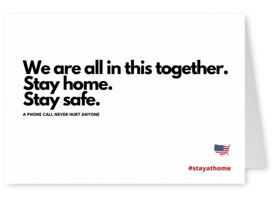 WE ARE ALL IN THIS TOGETHER. STAY HOME POSTCARDS