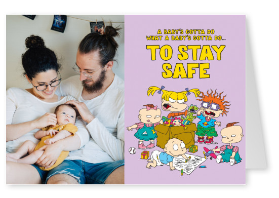 A baby's gotta do what a baby's gotta do…to stay safe