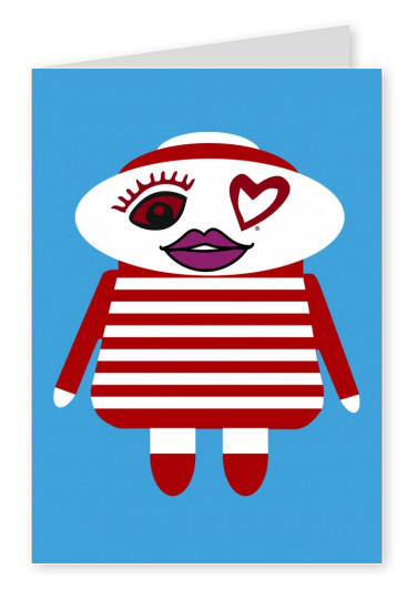illustratie Eye-love doll