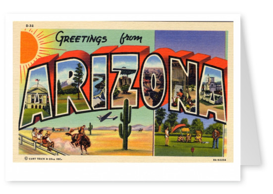 Curt Teich Postcard Archives Collection greetings from Arizona