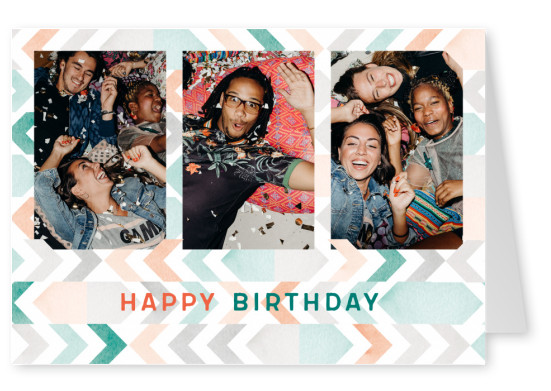 dottiandmiles Postkarte Happy Birthday
