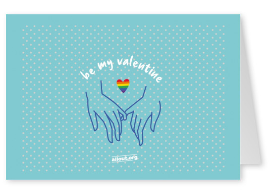 greeting card ALL OUT Be my Valentine