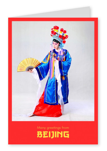 Photo of woman in traditional chinese opera dress