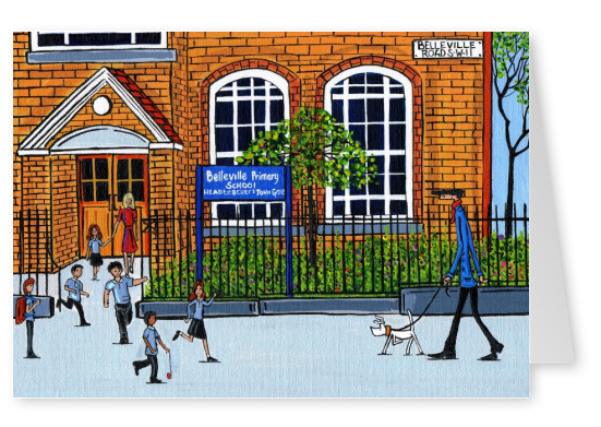 Illustration South London Artist Dan Belleville primary school