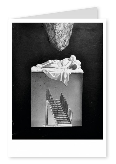 Belrost surrealistic collage staircase