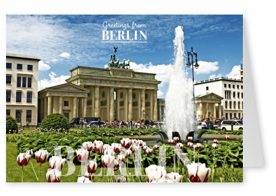 Postcard from Berlin with photo of Brandenburger Tor