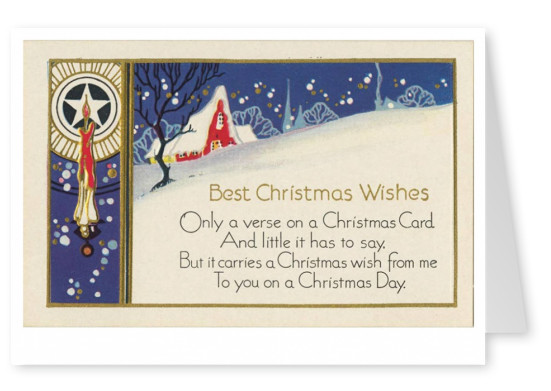 Curt Teich Postcard Archives Collection Best Christmas Wishes