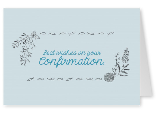 Confirmation card with flowers