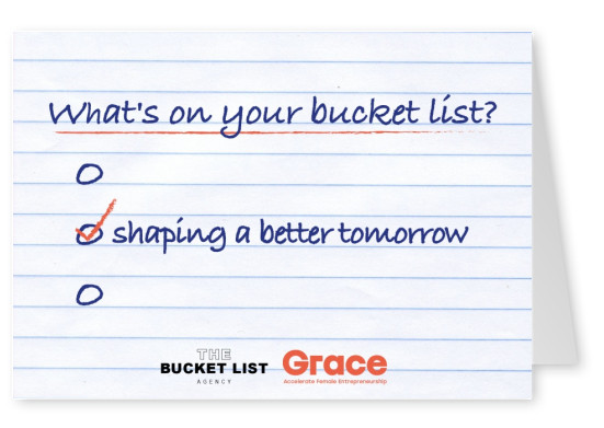 Bucket List Agency shaping a better tomorrow design saying