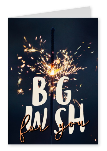 GREETING ARTS Big wish for you