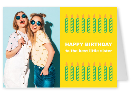Birthday card present stack template