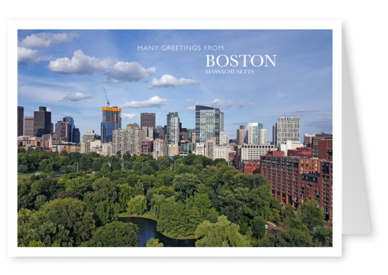 photo of boston Skyline and Park