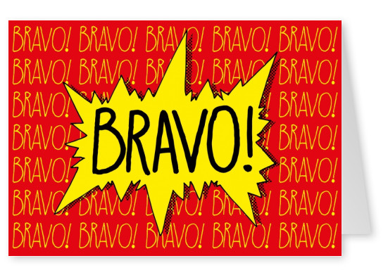 congratulation bravo card